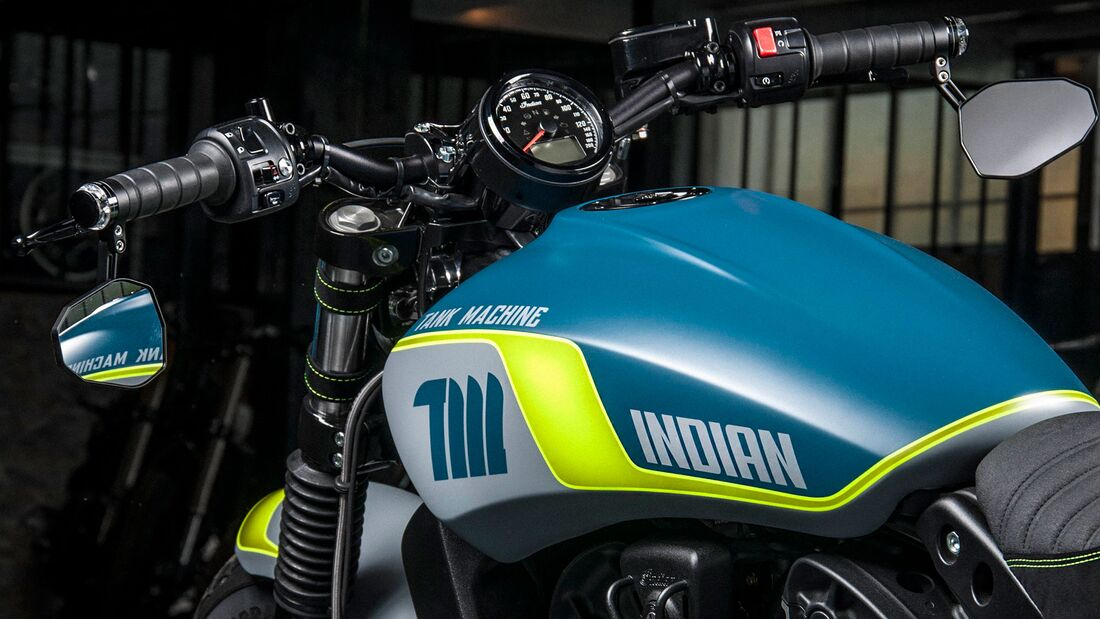 Neon Scout Bobber Sixty Limited Edition Tank Machine Indian Etoile