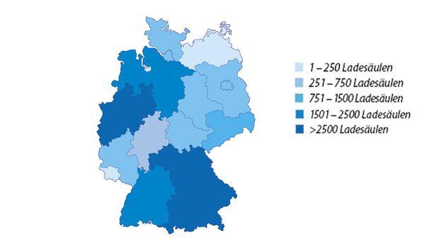 Öffentliche Ladesäulen Deutschland pro Bundesland