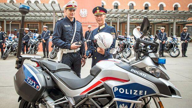 Panne: Auch die Tiroler Polizei war bislang auf Ducati Multistrada 1260 unterwegs – Standgeräusch 102 dB(A). Die Modelle wurden jetzt aus Tirol abgezogen.