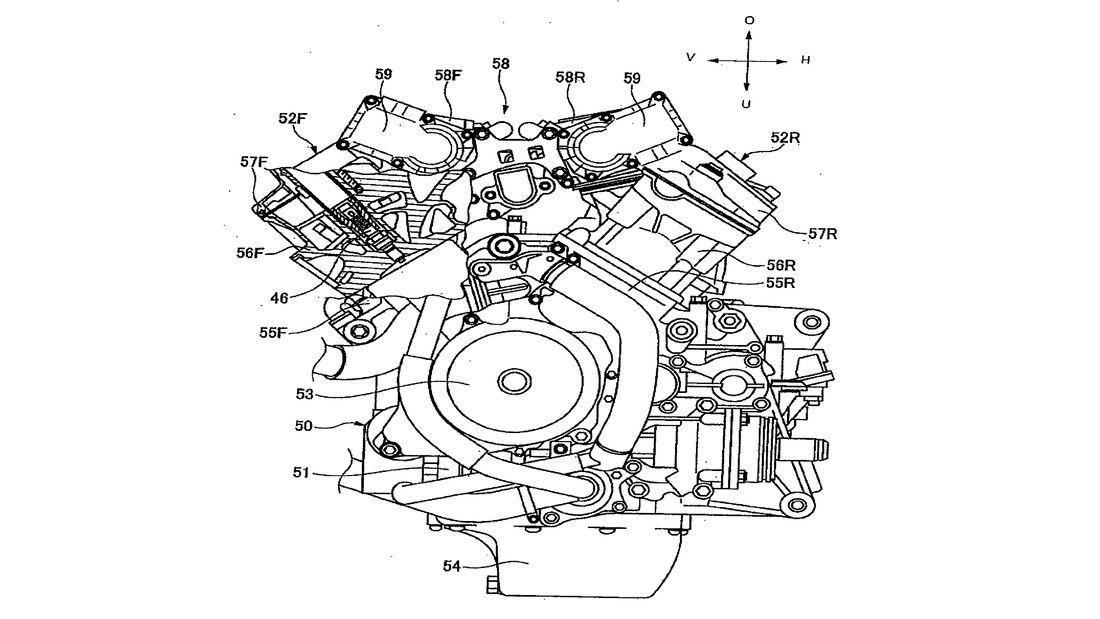 Patent Honda V4