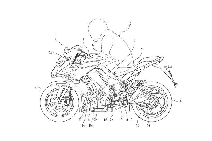 Kawasaki mit Halbautomatik: Patent zeigt elektronisches Schaltsystem