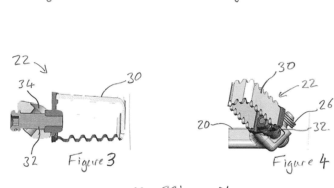 Patent Triumph einstellbare Fussraste