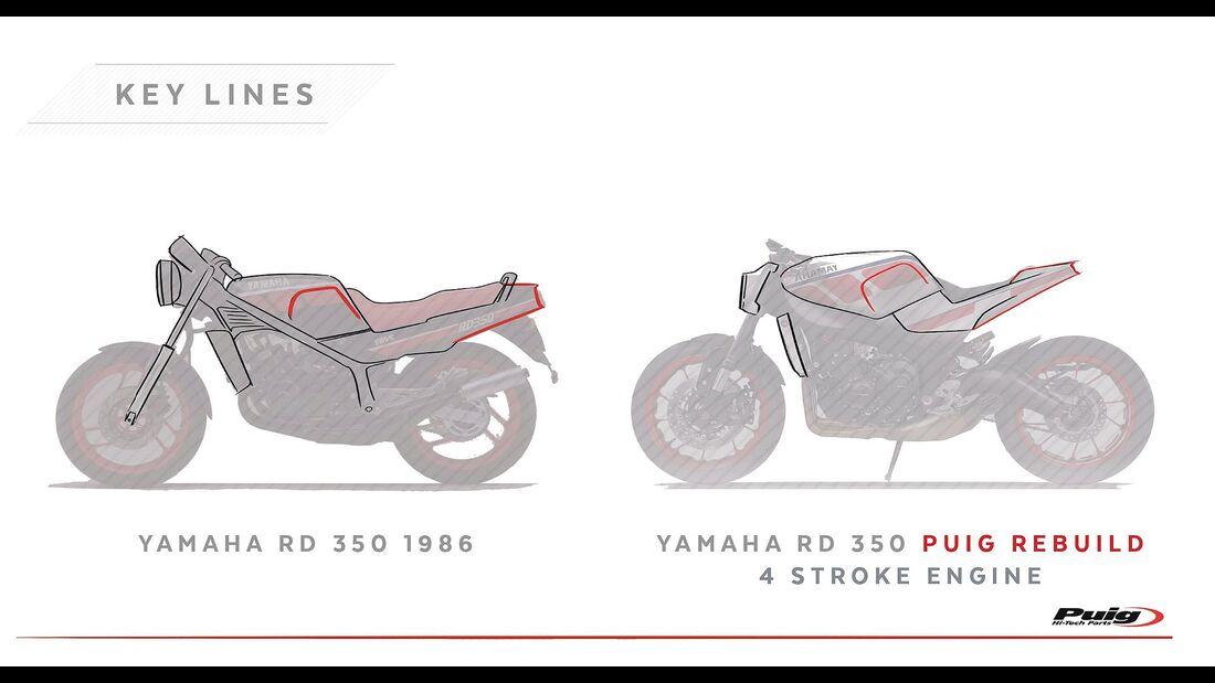 Puig Yamaha RD 350 Rebuild