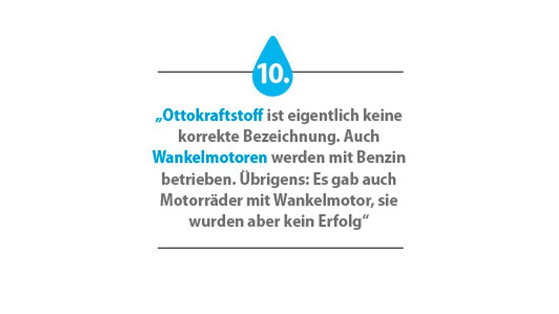 Ratgeber Benzin Benzin-Weisheiten