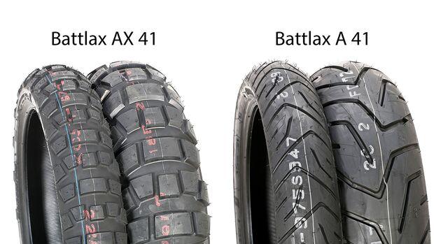Reifentest 2019 Battlax AX 41 und Battlax A 41