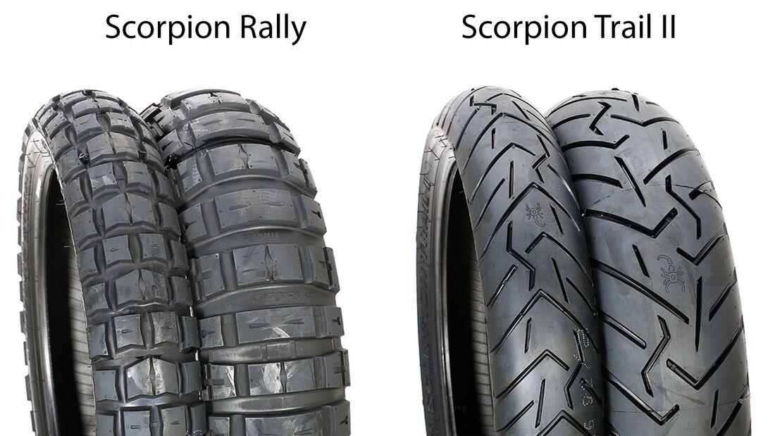 Reifentest 2019 Scorpion Rally und Scorpion Trail II