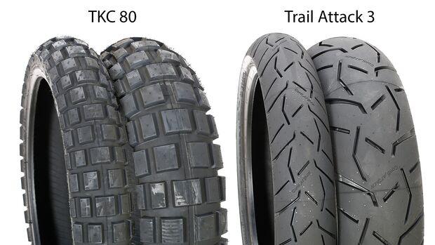 Reifentest 2019 TKC 80 und Trail Attack 3