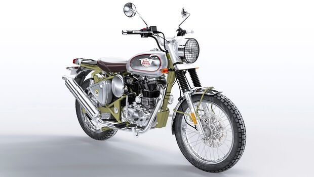 Royal Enfield Bullet Trials Works Replica 500. (Green)