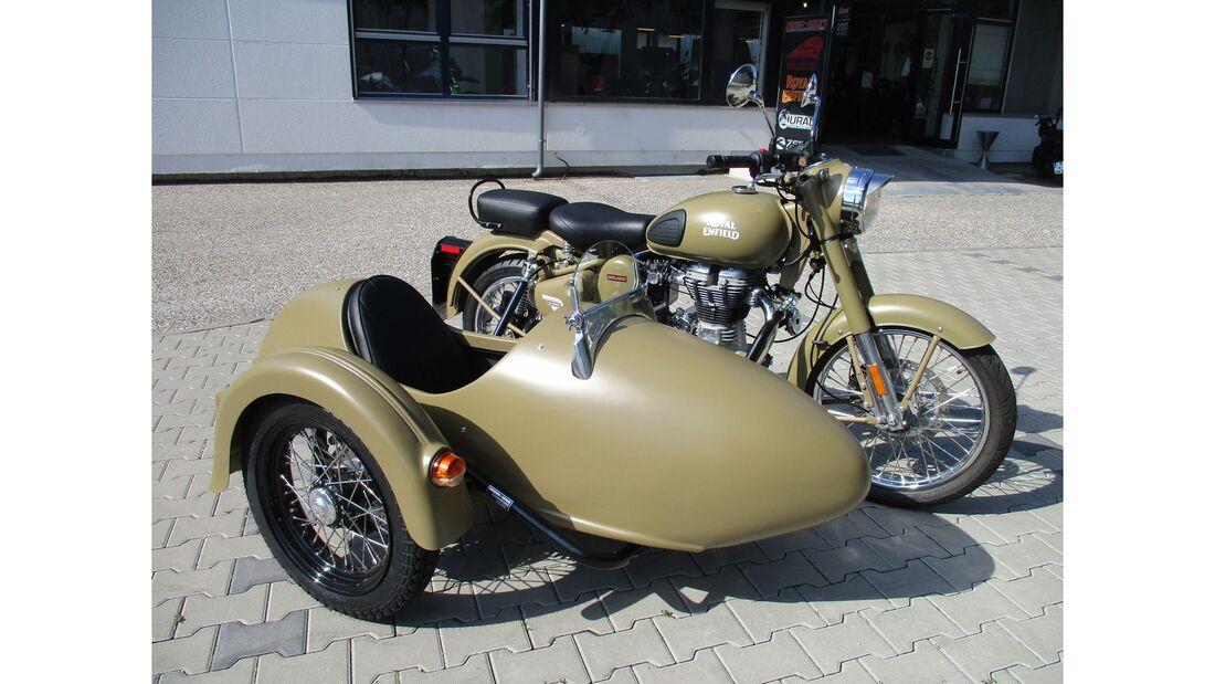 Royal Enfield Classic Gespann Iwan-Bikes