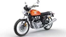 Royal Enfield Interceptor INT 650. (Orange Crush)