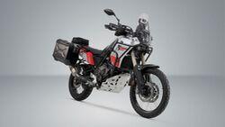 SW-Motech Alukoffer Set Akrapovic Auspuff TRAX ADV Schwarz 37 37 l Yamaha Tenere 711