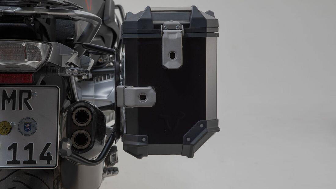 SW-Motech Alukoffer Set Akrapovic Auspuff TRAX ADV Schwarz 45 37 l BMW R 1250-GS und GS Adventure