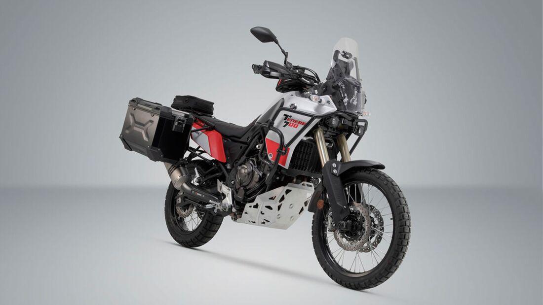 SW-Motech Alukoffer Set Akrapovic Auspuff TRAX ADV Schwarz 45 45 l Yamaha Tenere 701