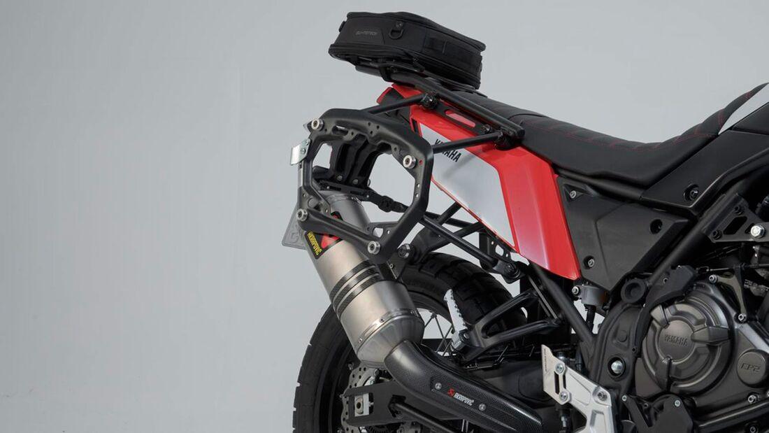 SW-Motech Alukoffer Set Akrapovic Auspuff TRAX ADV Schwarz 45 45 l Yamaha Tenere 702