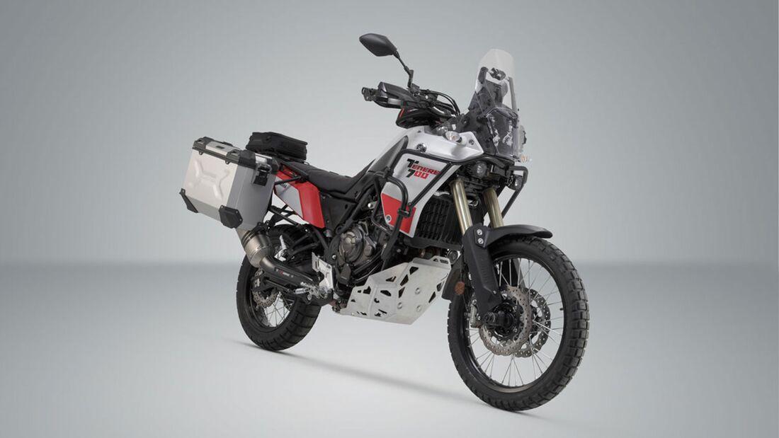 SW-Motech Alukoffer Set Akrapovic Auspuff TRAX ADV Silber 37 37 l Yamaha Tenere 709