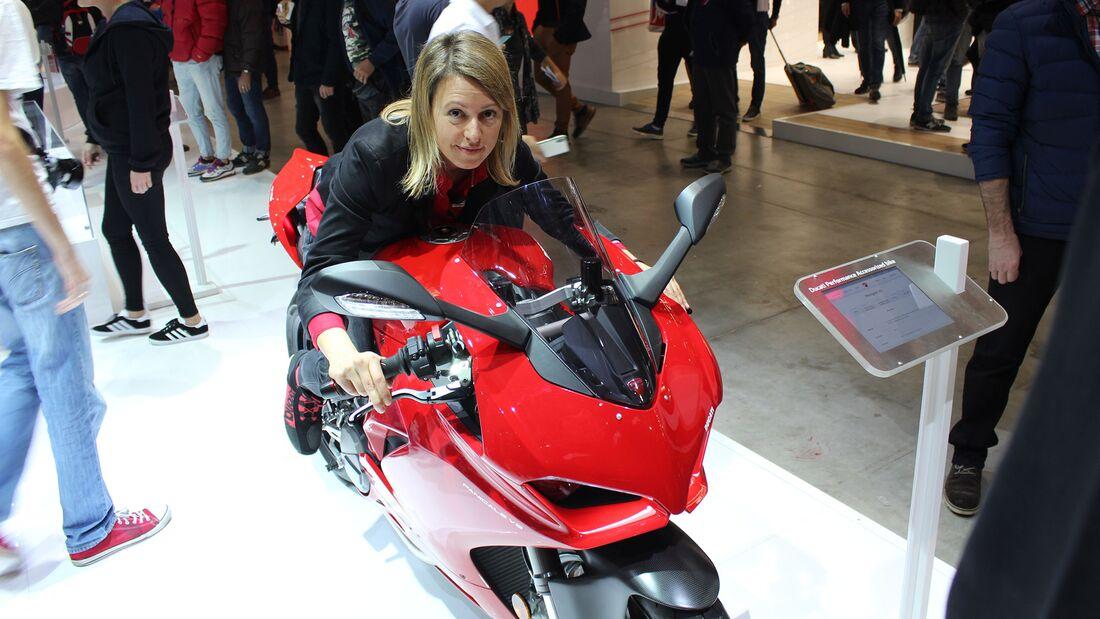 Sitzproben auf der EICMA 2019 Ducati Panigale V2