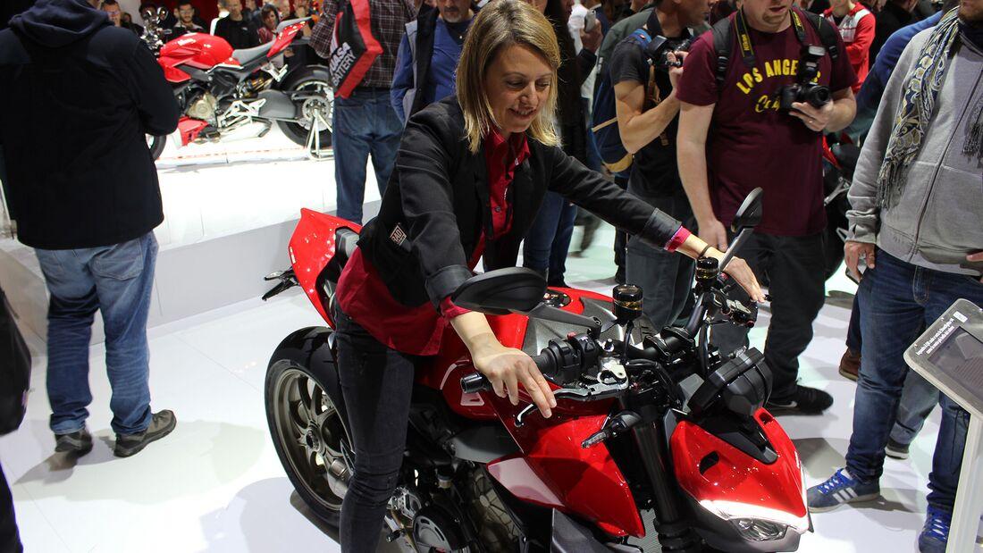 Sitzproben auf der EICMA 2019 Ducati Streetfighter V4