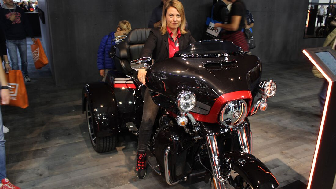 Sitzproben auf der EICMA 2019 Harley-Davidson Trike