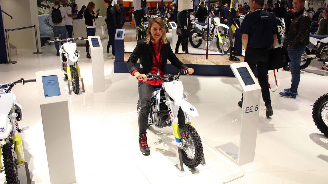 Sitzproben auf der EICMA 2019 Minibike