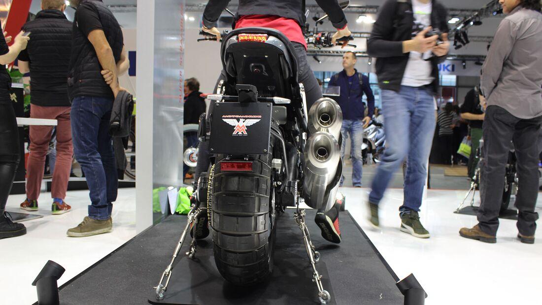 Sitzproben auf der EICMA 2019 Moto Morini Super Scrambler
