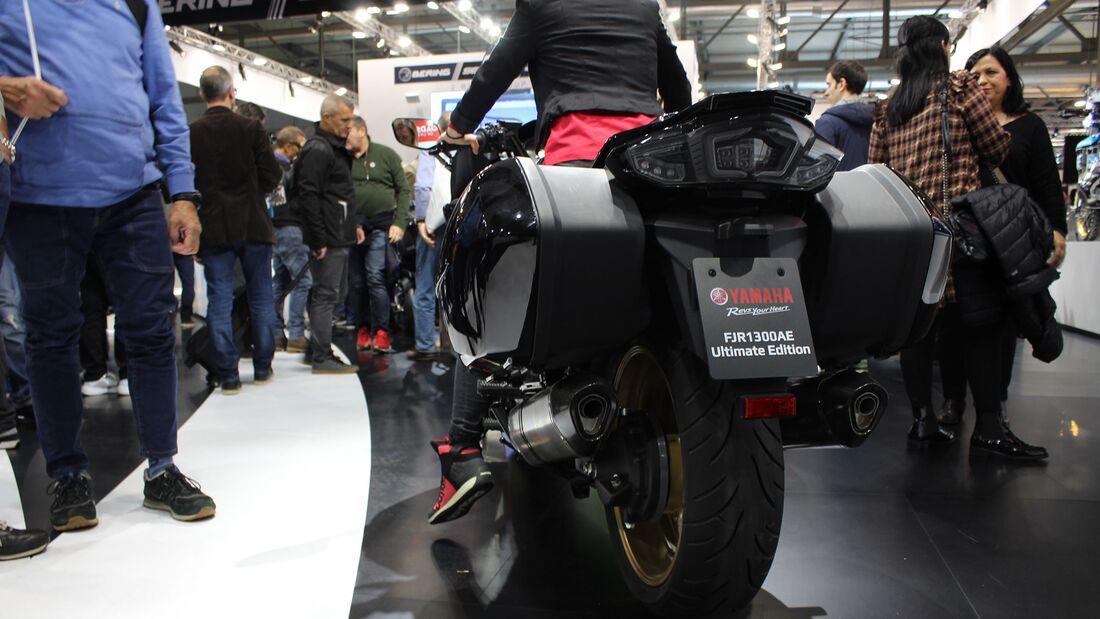 Sitzproben auf der EICMA 2019 Yamaha FYR 1300 AE Ultimate Edition