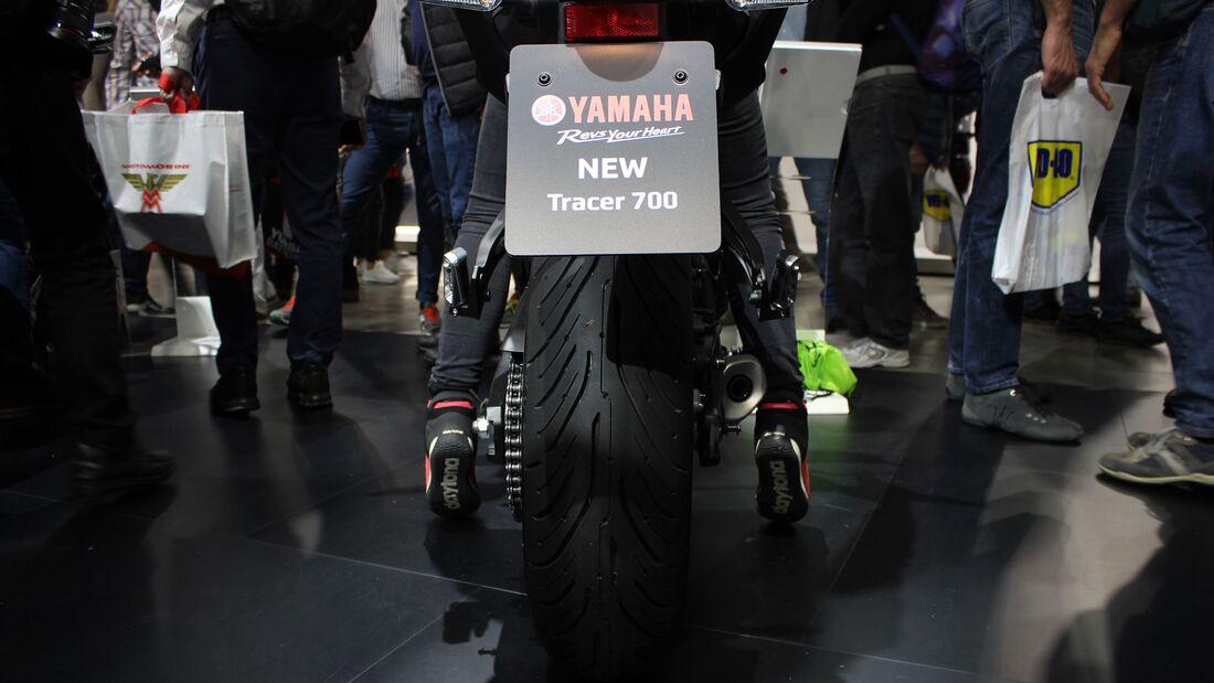 Sitzproben auf der EICMA 2019 Yamaha Tracer 700
