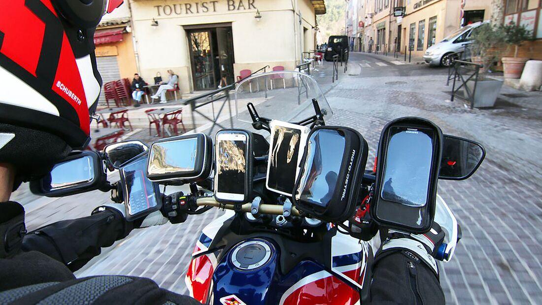 Smartphone Halterung Motorrad