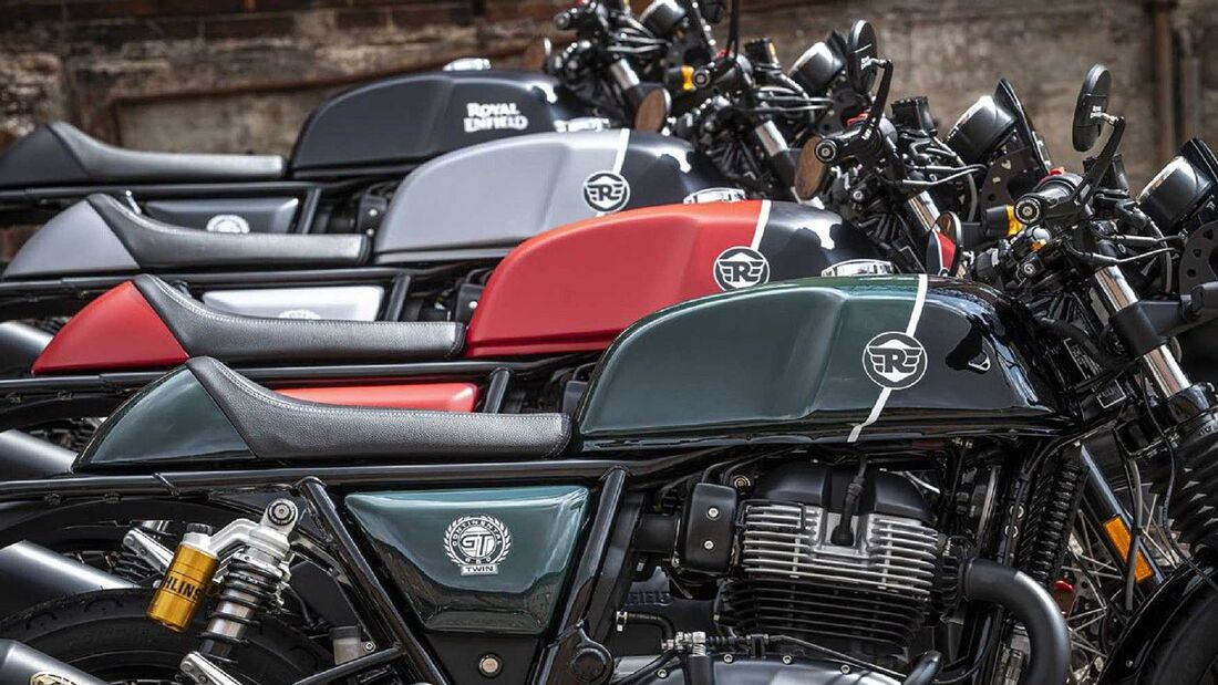 Sondermodelle Royal Enfield Interceptor und Continental GT Valentino Motor Company