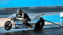 Sprintrekord True Cousins Silver Lightning Elektromotorrad Viertelmeile