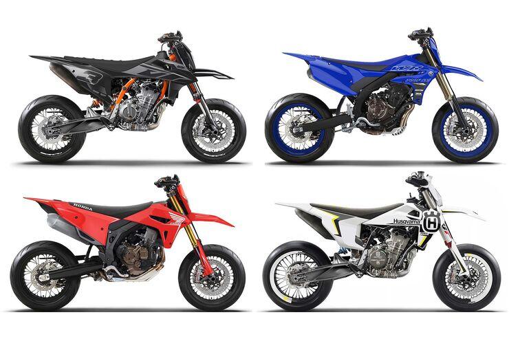Supermoto-Konzepte von Muzza.NZ: Phantasien für KTM, Honda und Yamaha