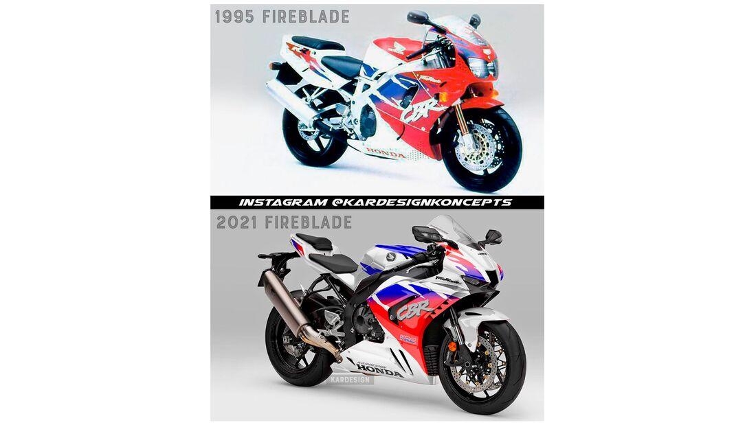Supersportler im Retro-Design Honda CBR 1000 RR Fireblade