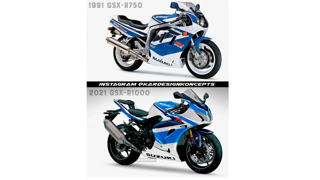 Supersportler im Retro-Design Suzuki GSX-R 1000
