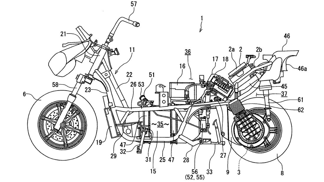 Suzuki Burgman Fuel Cell Patent 2021