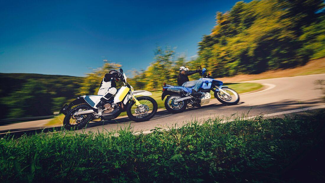 Suzuki DR 800 S und Husqvarna 701 Enduro LR