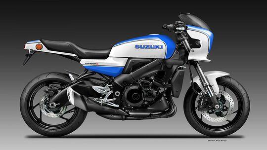 Suzuki GS 1000 S Designsketch