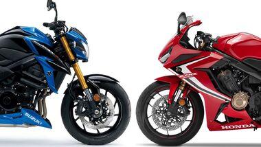 Suzuki GSX-S 750 und Honda CBR 650 R.