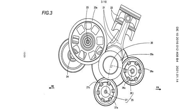 Suzuki neuer Twin Patent Ausgleichswellen