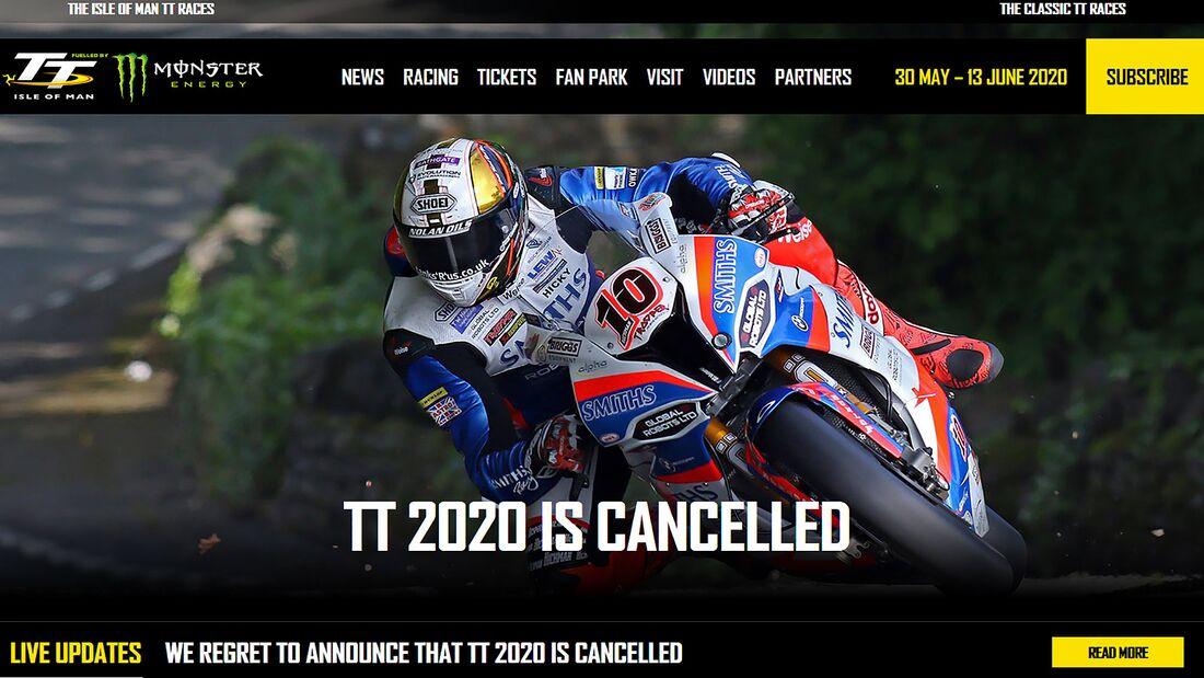 TT Isle of Man Absage