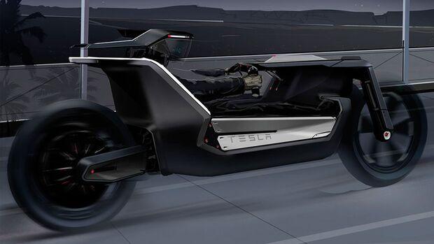 Tesla Model C Bike Motorrad Motorräder von Autoherstellern