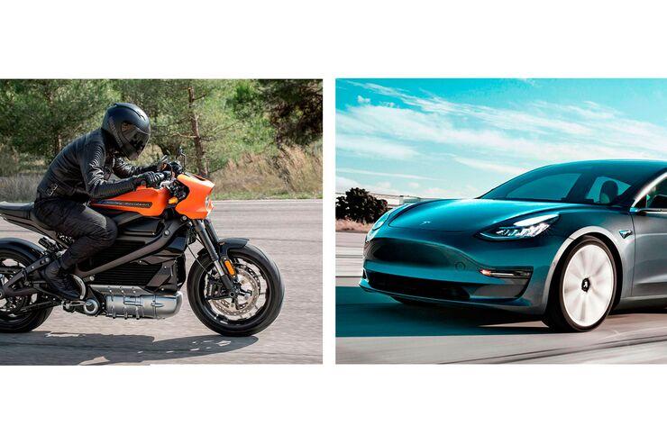 E-Harley gegen Tesla Model 3: Elektro-Viertelmeile-Rennen in Texas