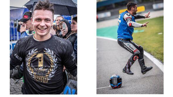 Titelgewinner IDM Superbike 1000 und Supersport 600 Assen 2019 Ilya Mikhalchik und Max Enderlein