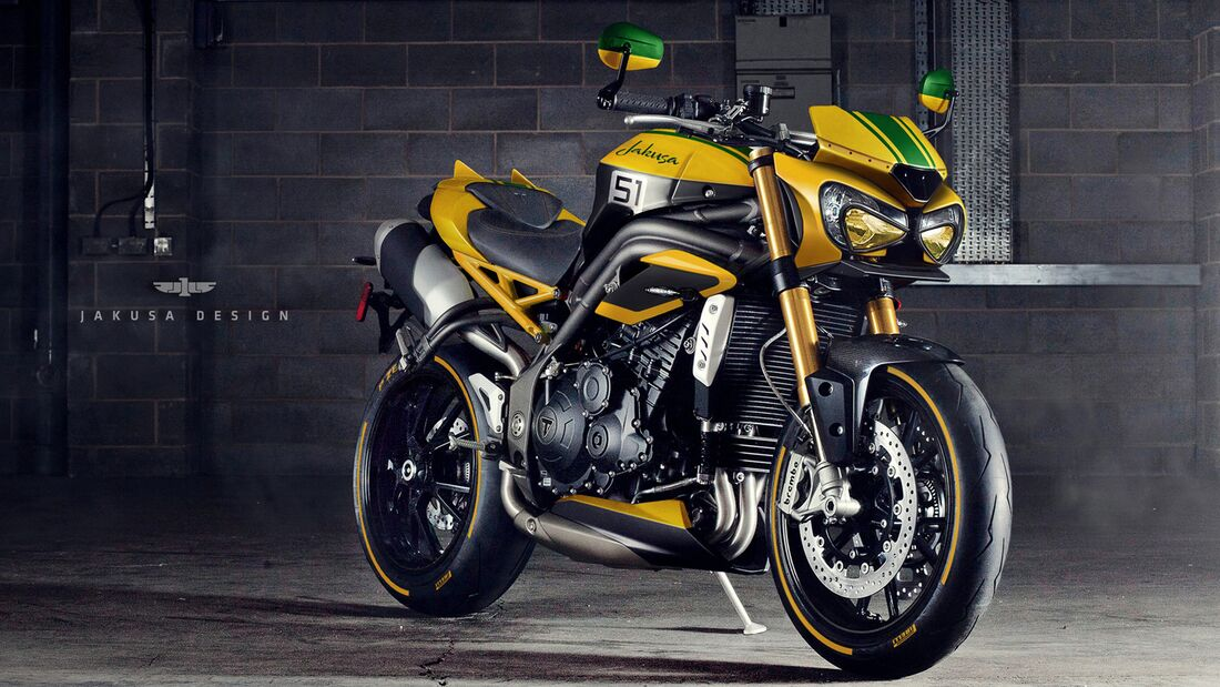 Triumph Speed Triple GTR von Jakusa Design.