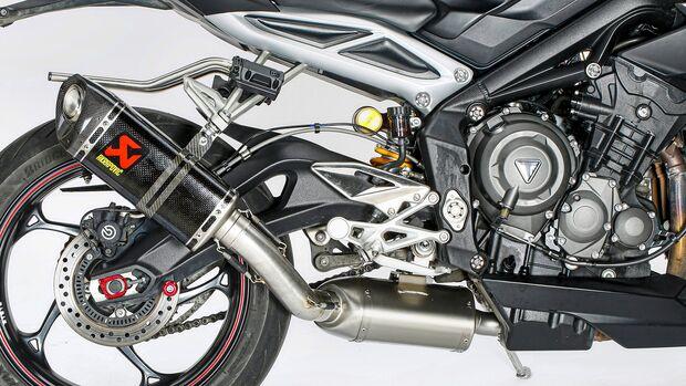 Triumph Street Triple RS im Dauertest - Zubehör: Akrapovic-Auspuff.