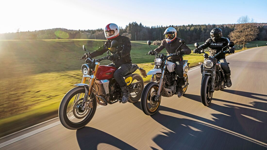 Vergleichstes Ducati Scrambler Fantic Caballero Scrambler 500 Mash X-Ride 650 Classic