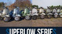 Vintage Custom Vespa Modelle von Scooter und Service