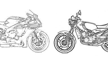 Yamaha-Motorräder zum Ausmalen - Bilder und Vorlagen.