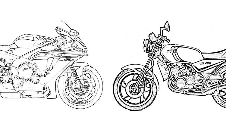 Yamaha Motorräder Zum Ausmalen Gegen
