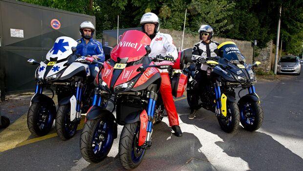 Yamaha Niken Begleitfahrzeug bei der Tour de France und dem Giro d Italia 2019