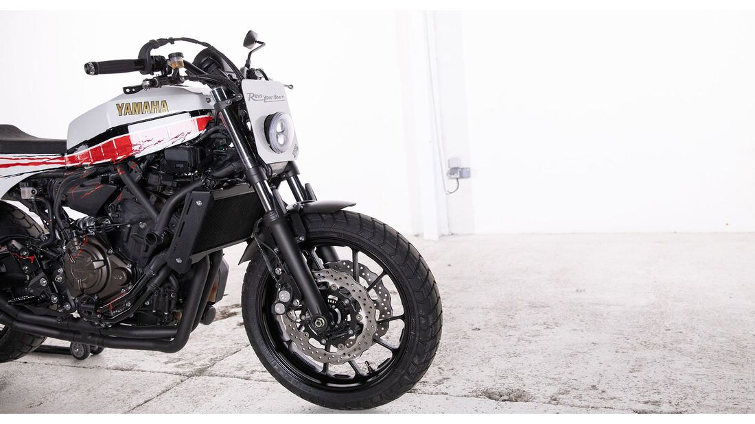 Yamaha XSR700 Red Tail Yard Built
