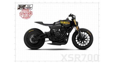Yamaha Yard-Built-Zeichenwettbewerb Frankreich.